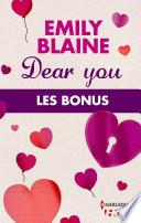 Dear You : les bonus de la série