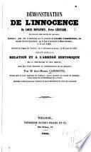 Démonstration de l'innocence de Louis Bonafous, frère Léotade, des Écoles chrétiennes de Toulouse