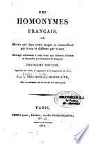 Des homonymes français ou mots qui dans notre langue se ressemblent par le son et différent par le sens