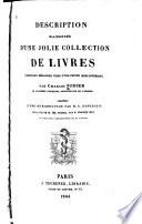 Description raisonnée d'une jolie collection de livres