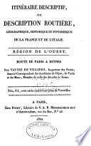 Description routière et géographique de l'empire Français divisé en quatre régions