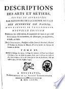 Descriptions des arts et métiers