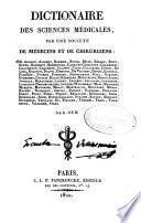Dictionaire des sciences medicales