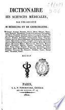 Dictionaire des sciences médicales