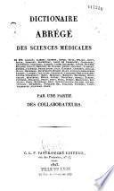 Dictionaire [sic] abrégé des sciences médicales