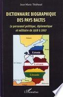 Dictionnaire biographique des Pays baltes