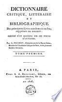 Dictionnaire critique, littéraire et bibliograpique des principaux livres condamnés au feu, supprimés ou censurés