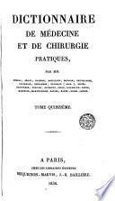Dictionnaire de médecine et de chirurgie pratiques