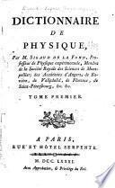 Dictionnaire de physique [et supplement]