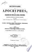 Dictionnaire des apocryphes