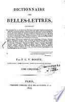 Dictionnaire des belles-lettres