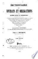 Dictionnaire des contrats et obligations en matière civile et commerciale