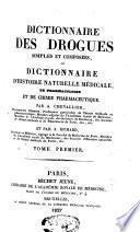Dictionnaire des drogues simples et composées, ou
