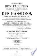 Dictionnaire des facultés intellectuelles et affectives de l'ame