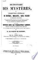Dictionnaire des mystères