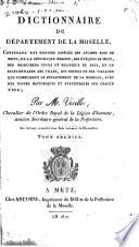 Dictionnaire du département de la Moselle