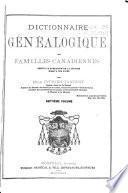 Dictionnaire généalogique des familles canadiennes