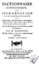 Dictionnaire iconologique, ou Introduction a la connoissance des peintures, sculptures, estampes, ...
