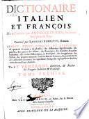 Dictionnaire italien et françois