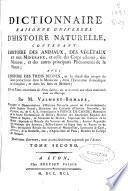 Dictionnaire raisonné universal d'histoire noturelle