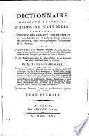 Dictionnaire raisonné universel d'histoire naturelle