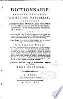 Dictionnaire raisonné universel de l'histoire naturelle
