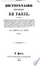 Dictionnarie historique de Paris