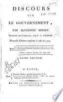 Discours sur le gouvernement