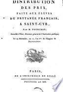 Distribution des prix, faite aux élèves du prytanée de Saint-Cyr ... le 29 thermidor an 12