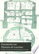 Documents sur l'histoire de Lorraine