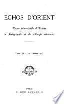 Echos D'Orient 26 Annee No.129