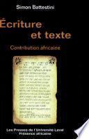 Ecriture et texte