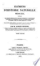 Elémens d'histoire naturelle médicale