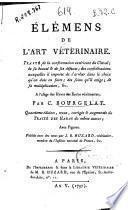 Élémens de l'art vétérinaire