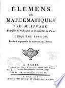 Élémens de mathematiques
