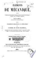 ELEMENTS DE MECANIQUE
