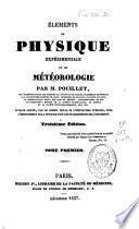 Eléments de physique expérimentale et de météorologie
