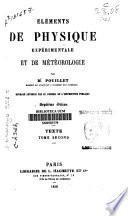 Elements de physique experimentale et de météorologie
