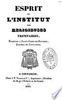 Esprit de l'institut des religieuses trinitaires, établies à Saint-James-de-Beuvron, diocèse de Coutances