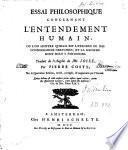 Essai philosophique concernant l'entendement humain