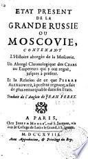 Etat présent de la Grande Russie ou Moscovie