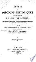 Études ou discours historiques
