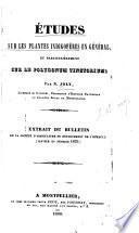 Études sur les plantes indigofères en général et particulièrement sur le Polygonum tinctorium