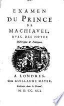 Examen du Prince de Machiavel