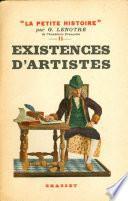 Existences d'artistes