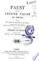 Faust et le second Faust de Goethe