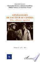 Généalogies de l'acteur au cinéma