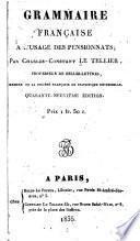 Grammaire française à l'usage des pensionnats