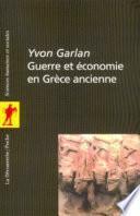 Guerre et économie en Grèce ancienne