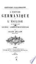 Histoire d'Allemagne: L'Empire germanique et l'église